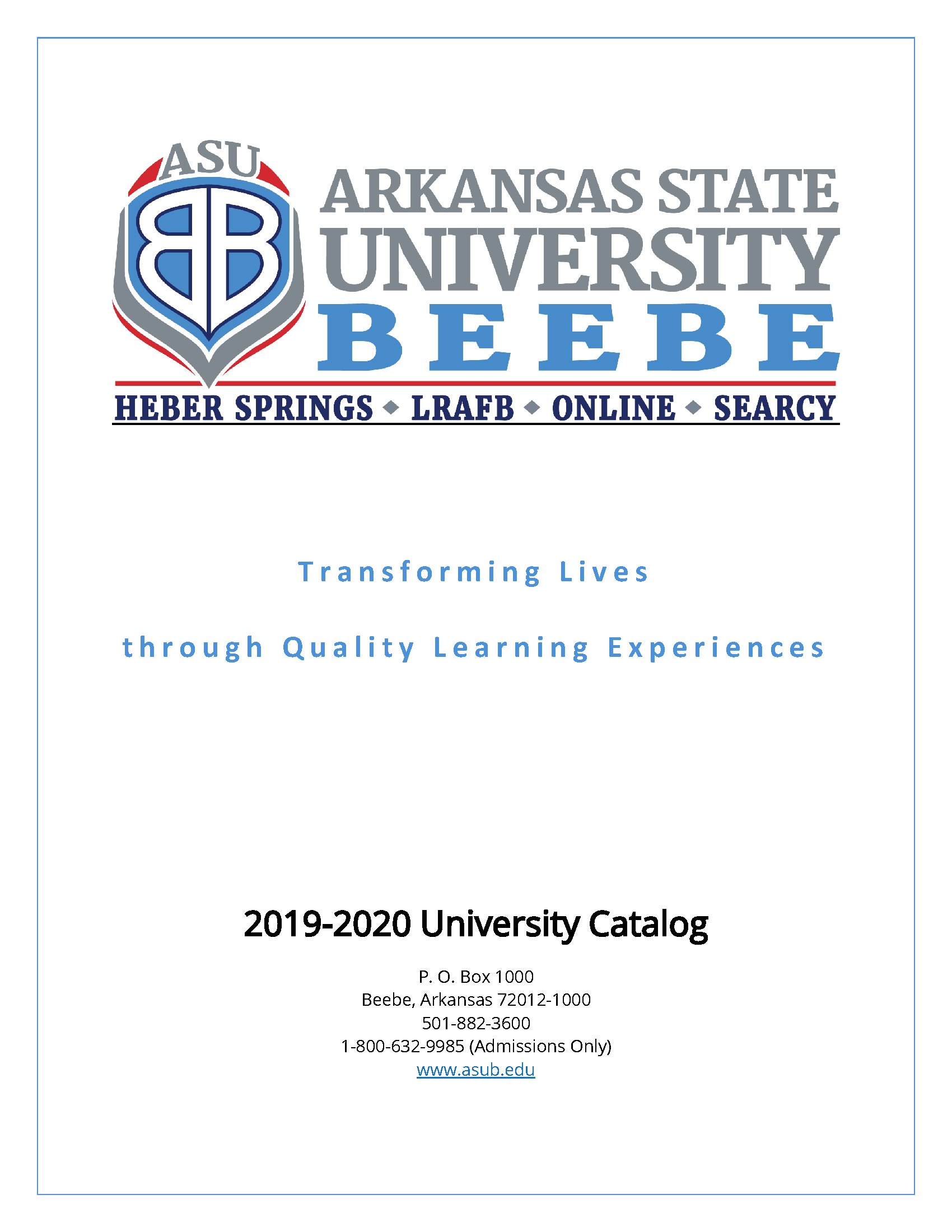 University Catalog, 2019 2020 – Arkansas Documents Inside Arkansas State University Holiday Schedule
