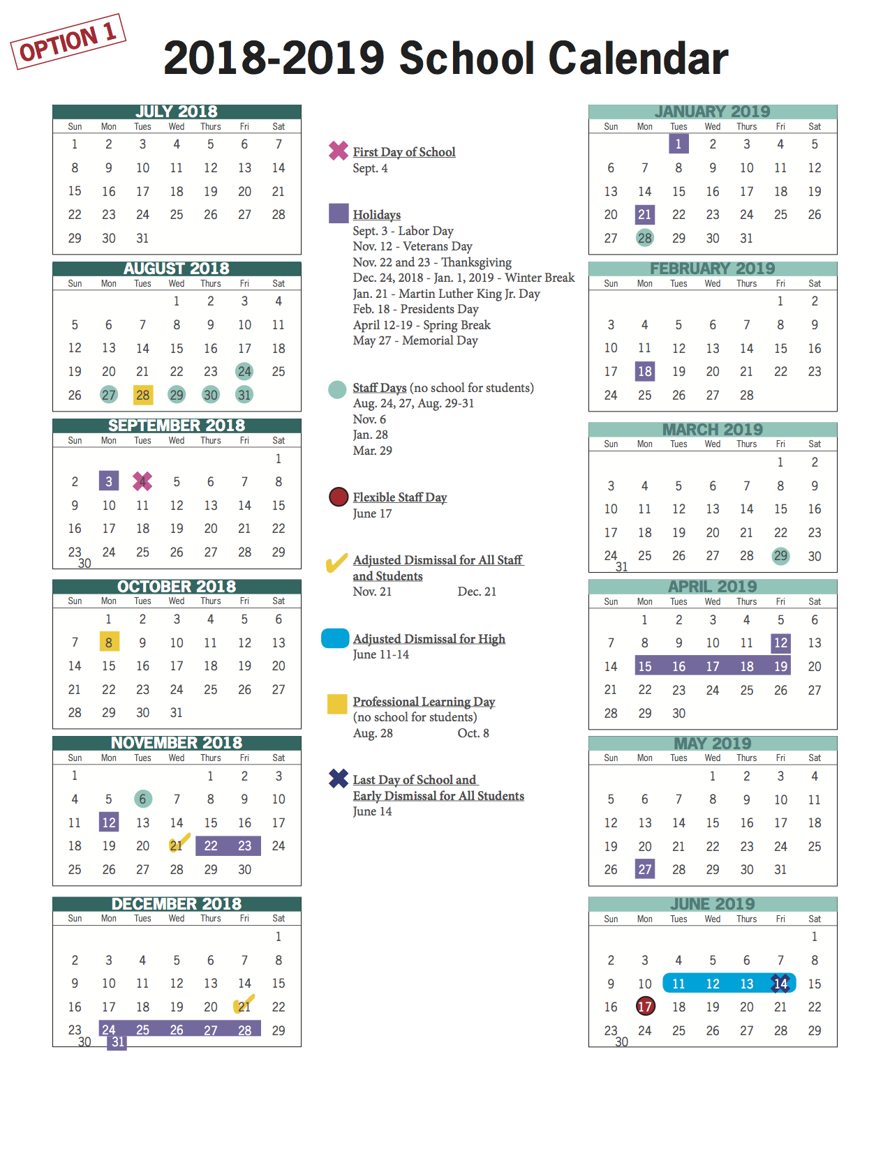 Vbcps E-Town Hall - 2018-2019 And 2019-2020 School Calendar throughout Virginia Beach City Public.schools Calendar