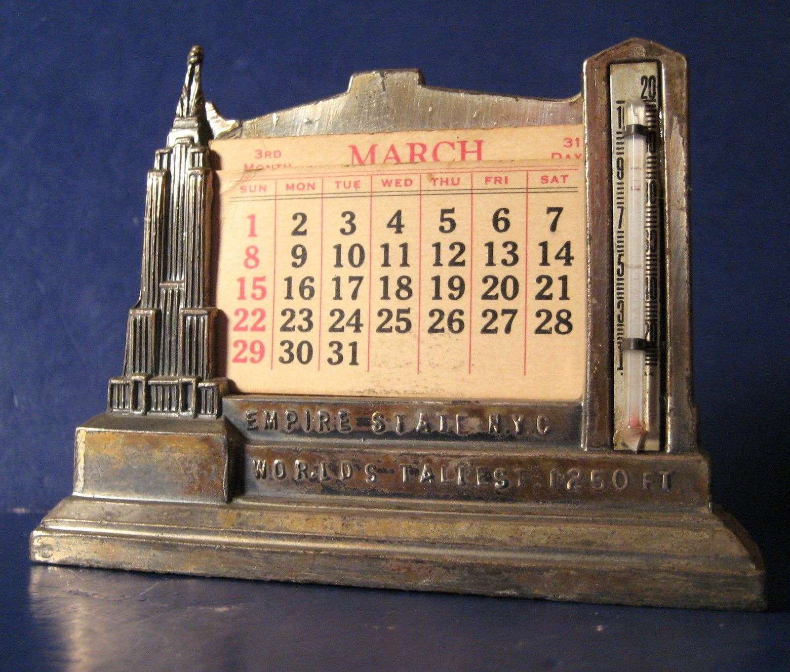 Vintage Souvenir Building Lead Empire State Building Intended For Calendar Empire State Building
