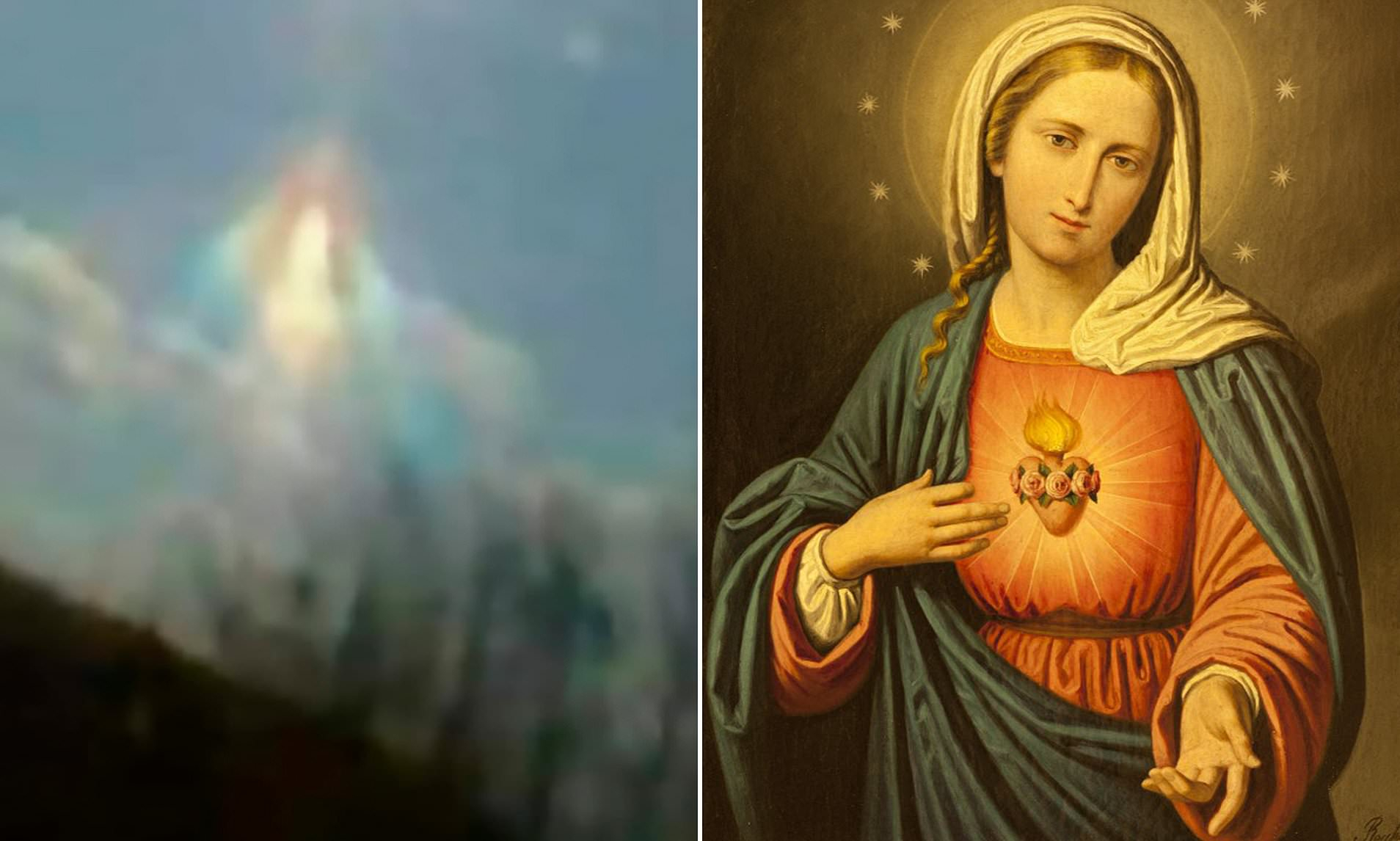 Virgin Mary 'appears In The Sky' Over Argentina As Locals For .catholic Saint Of The Day March 5 2020