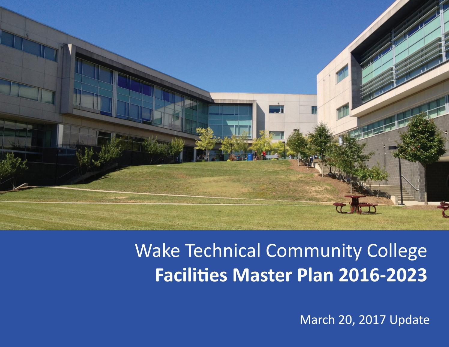 Wake Tech Master Plan 2017Wake Tech Community College With Wake Tech Calendar 2021