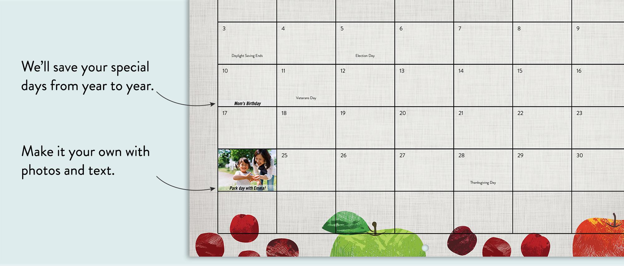 Wall Photo Calendar Pertaining To Single Page 1999 Calendar