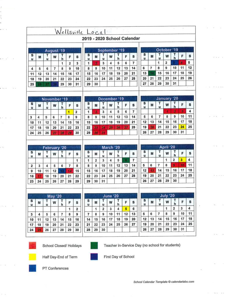 Wellsville Local Schools Calendar 2020 – Publicholidays With Regard To Ohio County Schools Calendar 2020 2021 Wheeling