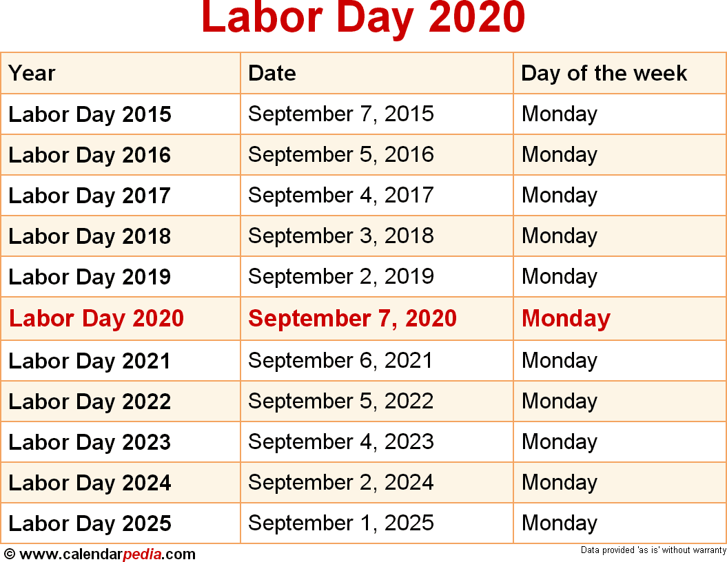 When Is Labor Day 2020? inside Canton Trade Days 2021 Calendar
