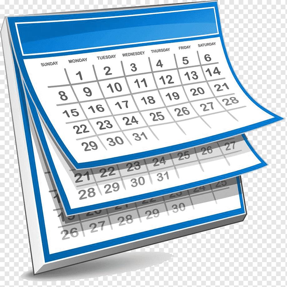 White And Blue Calendar Illustartion, Calendar Giphy Within Mifflin County School District Calender 20 21