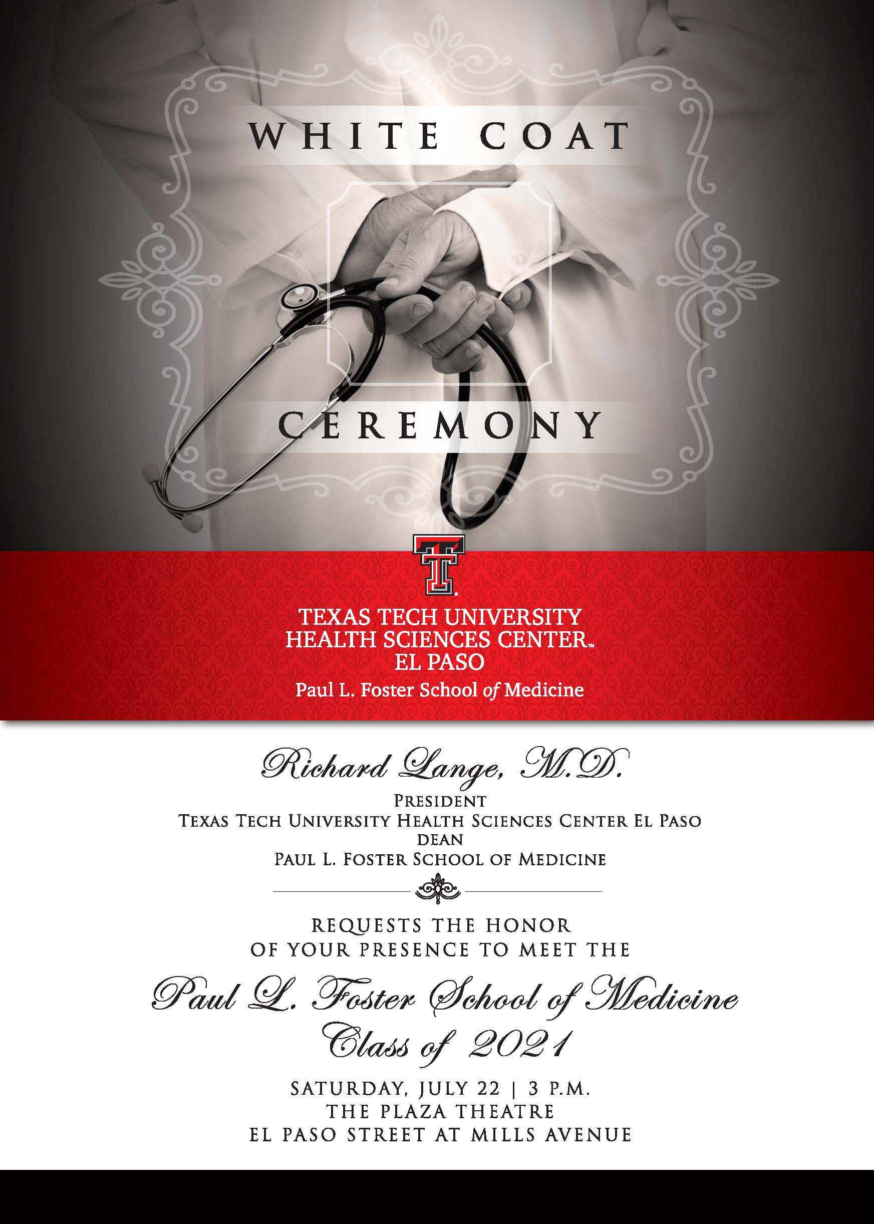 White Coat Ceremony - July 22 intended for Texas Tech Calendar For 2021 -2020