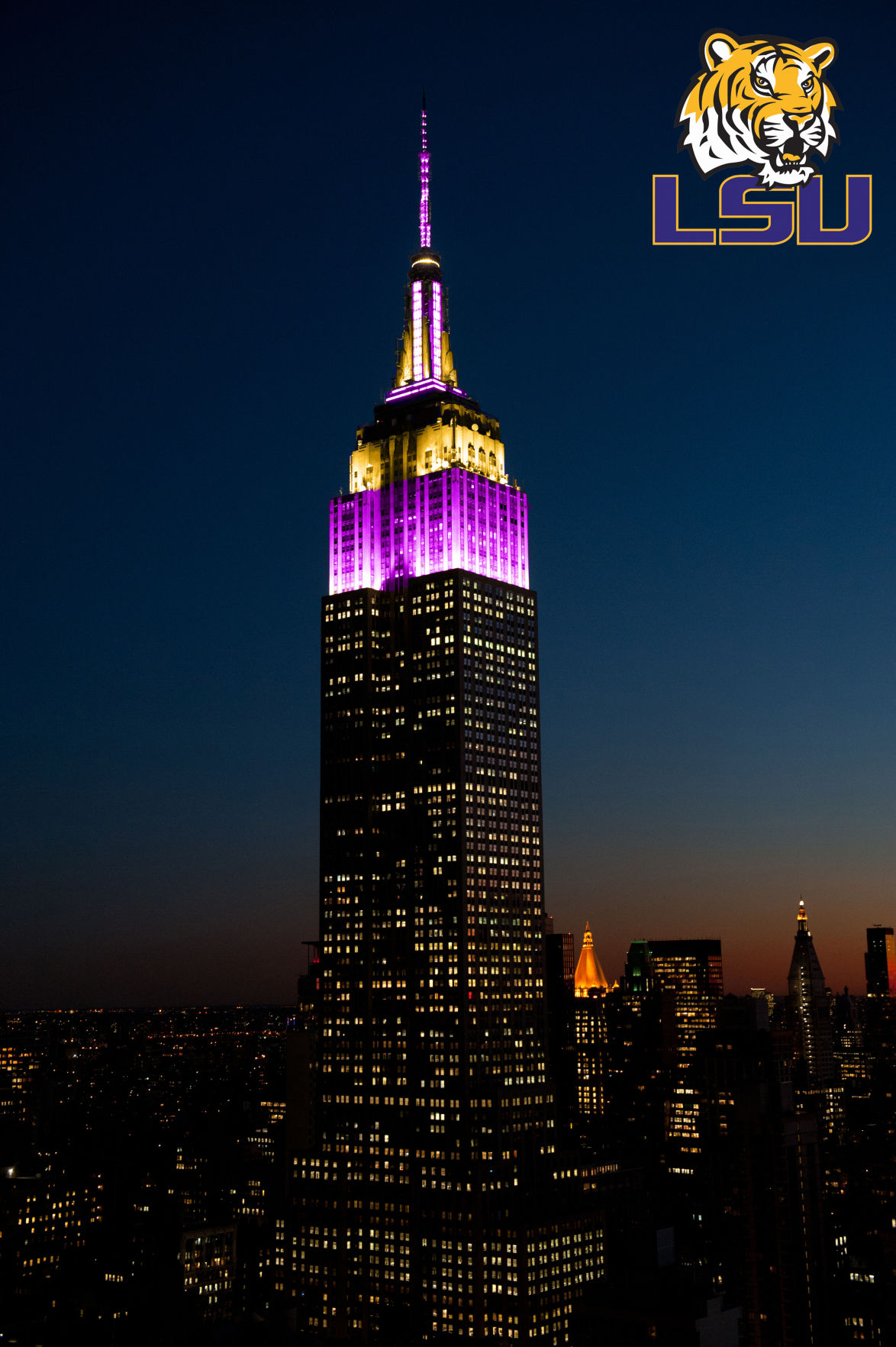 Will Lsu's Purple And Gold Reign Over New York City? Check Within Empire State Building Lights Calendar