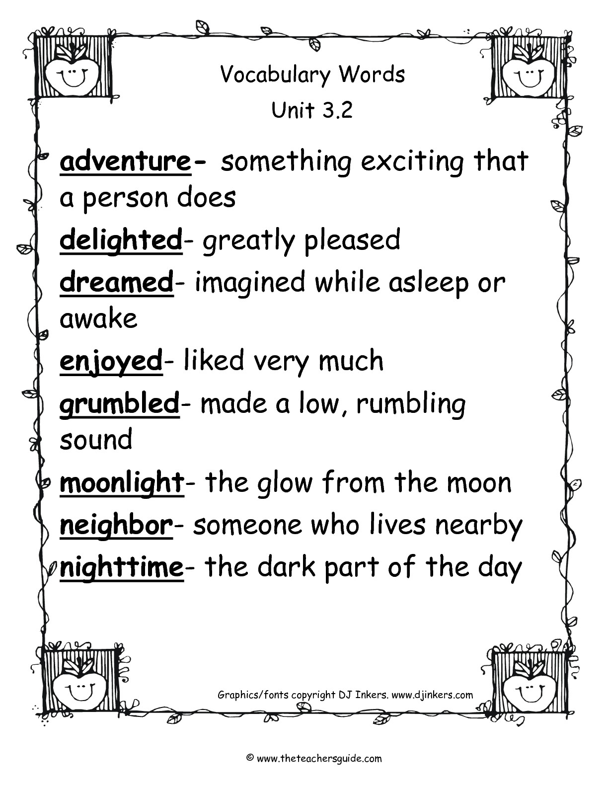 Wonders Second Grade Unit Three Week Two Printouts Pertaining To Word Of The Day Printouts