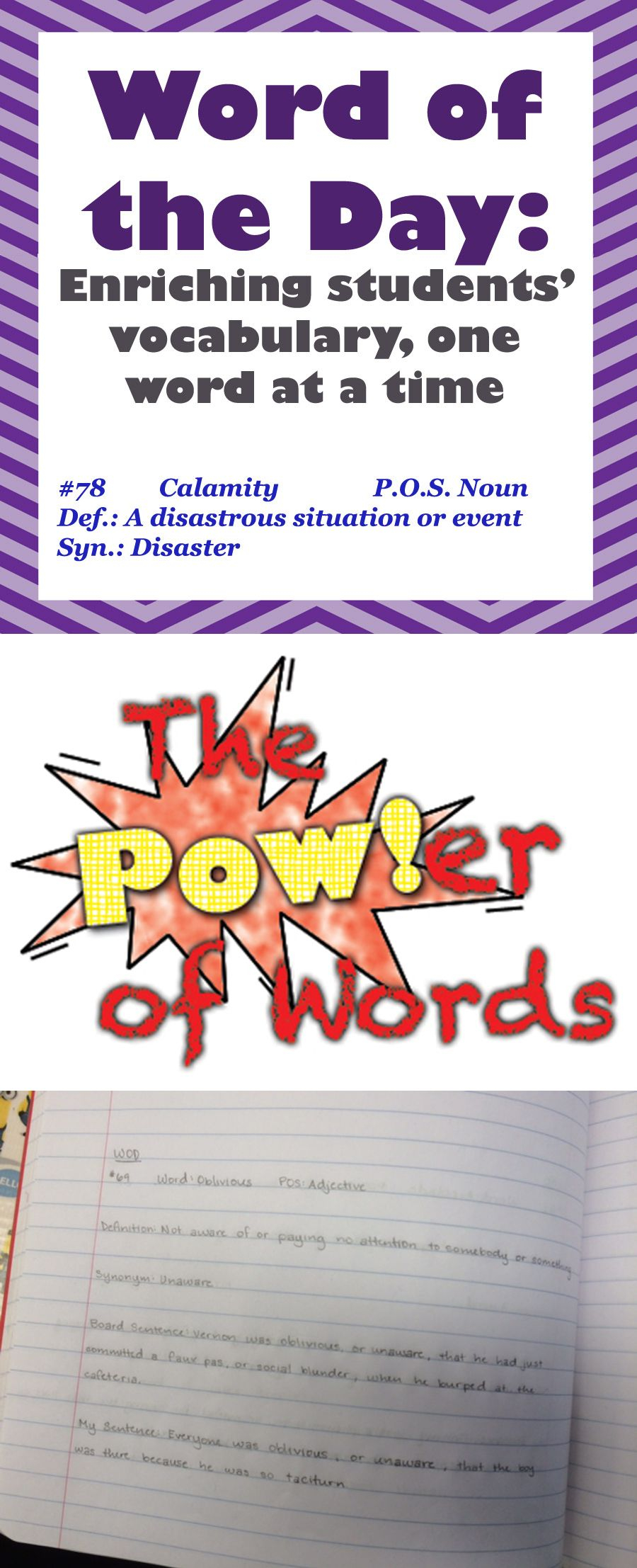 Word Of The Day: A Year Long Middle School Vocabulary Pertaining To Word Of The Day Printouts