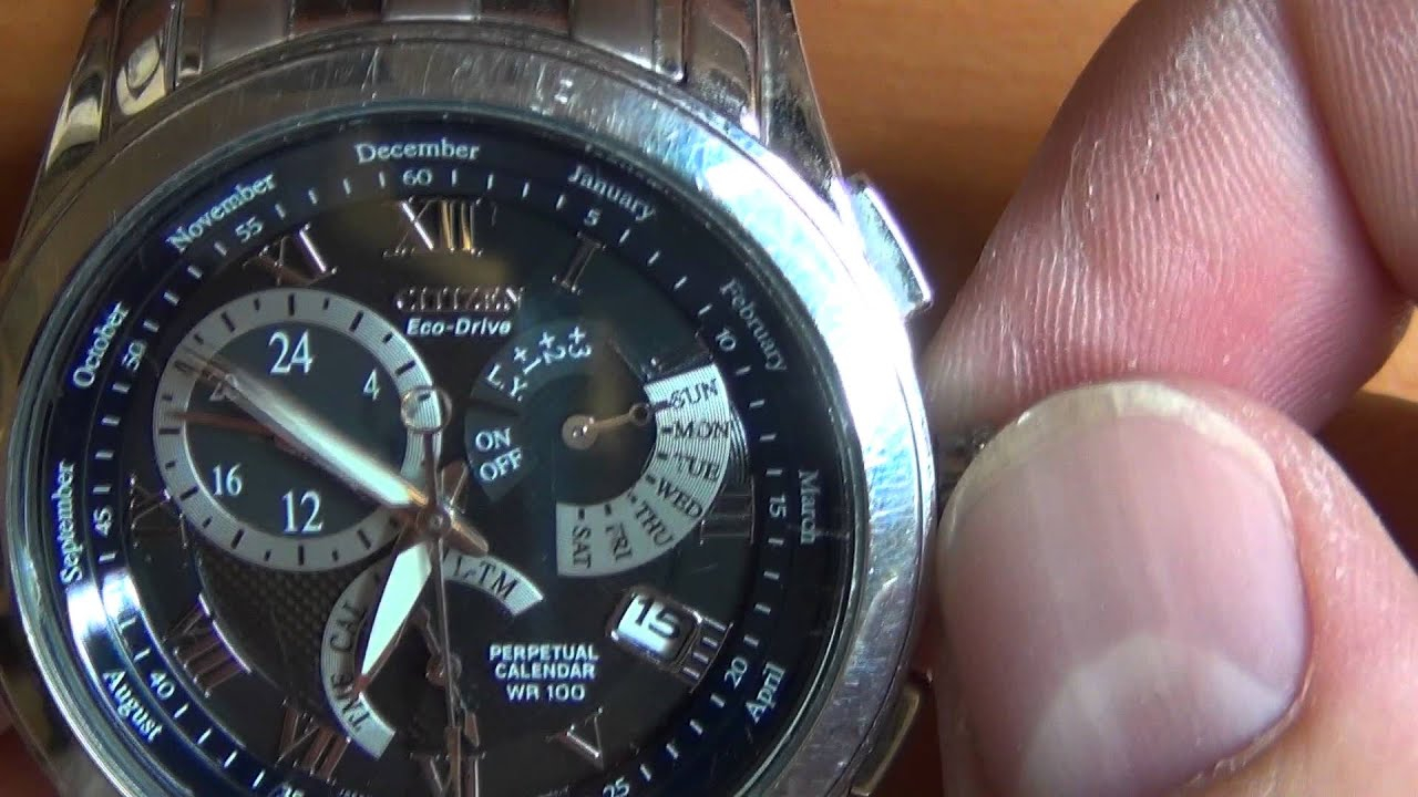 Wrist Watch Review: Part 3 – Citizen Eco Drive Perpetual Calendar Wr 100 –  Calibre 8700 Pertaining To Citizen Eco Drive Chronograph Wr100 Manual