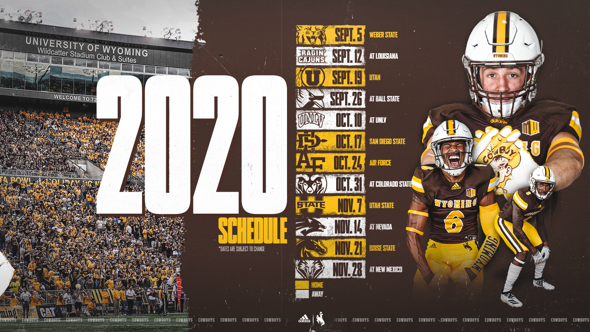 Wyoming Football To Host One Of The Best Home Schedules In With Wyoming University Calendar