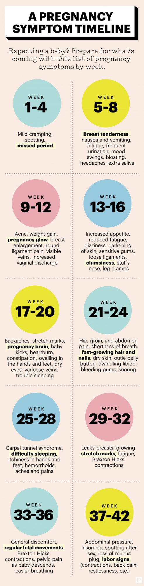 Your Pregnancy Symptoms Weekweek | Parents Within Pregnancy Calendar Day By Day Development