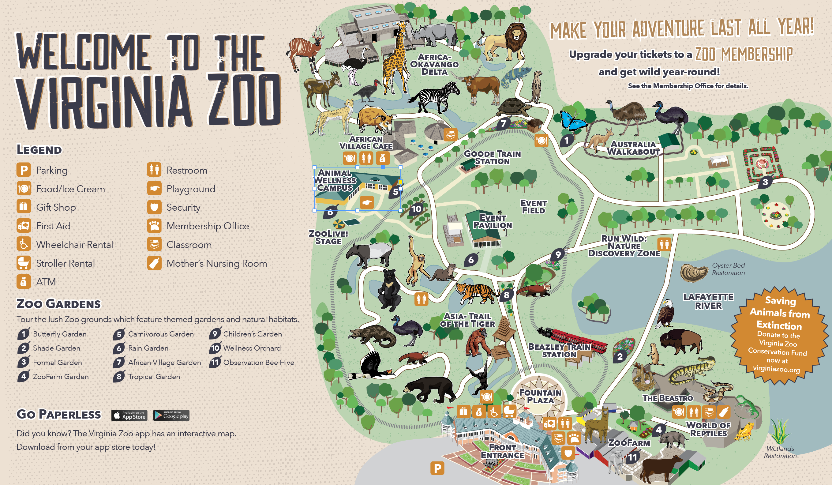 Zoo Map – Virginia Zoo In Norfolk Intended For Printable A Day Bday Schedule Virginia Beach