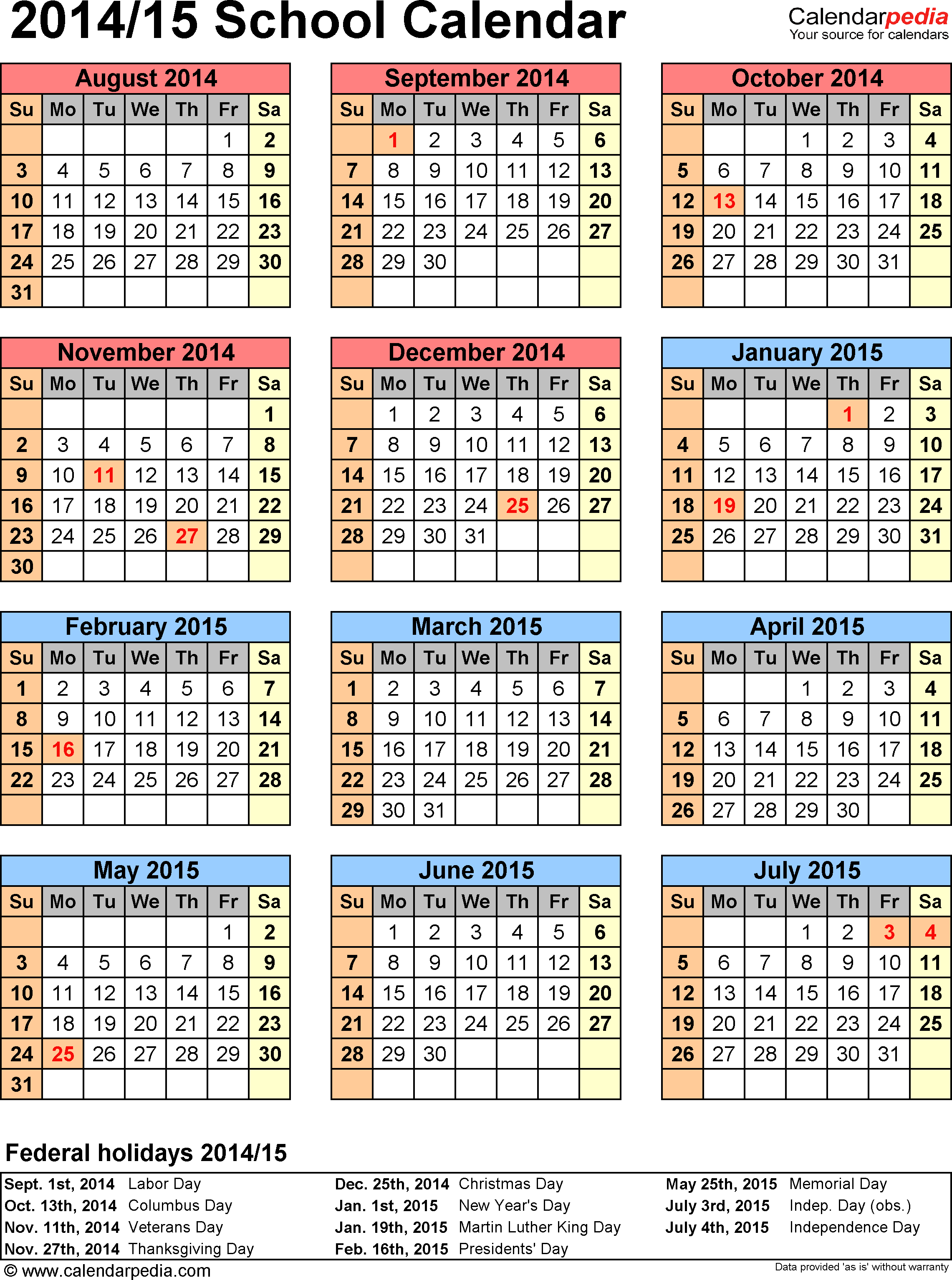2014 Yearly Calendar Template Uk | Holidays And Key Dates Pertaining To Doe School Calnder 2015 2020
