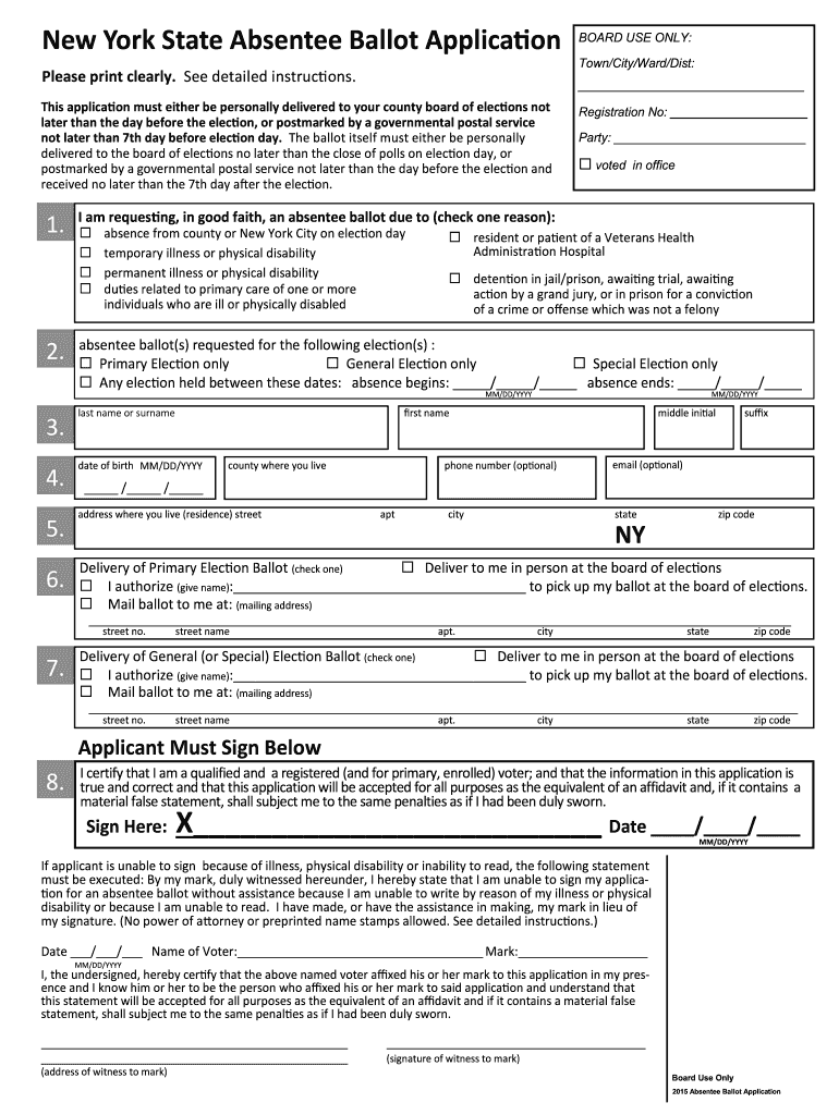 2015 2020 Form Ny Absentee Ballot Application Fill Online Pertaining To Nyc School Calendar For 2015 2020