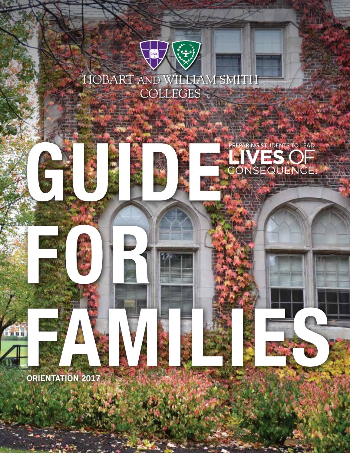 2017 Hws Guide For Familieshobart And William Smith Throughout Hobart William Smith School Calendar