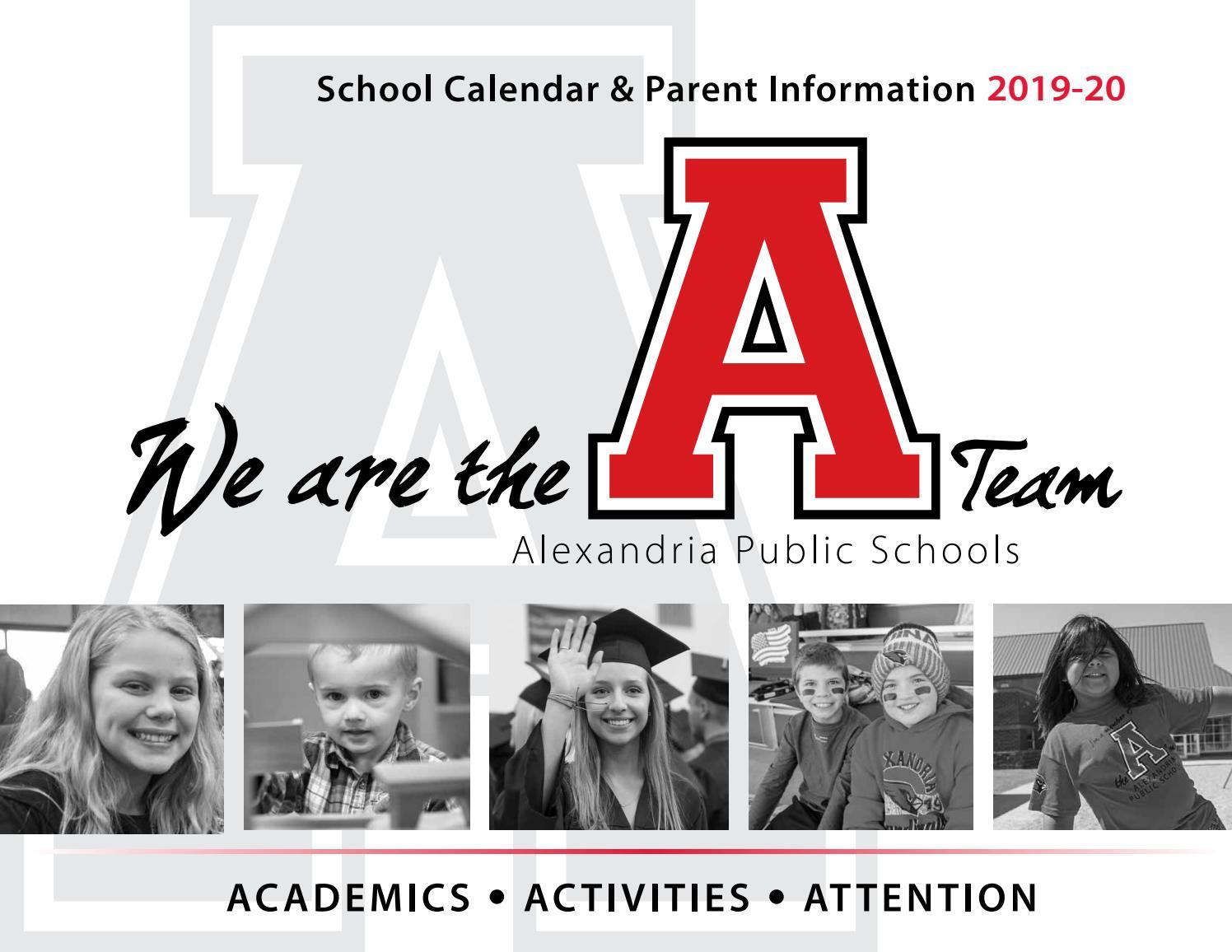 2019 20 School Calendaralexandria Public Schools – Issuu In Grand Rapids High School Calendar