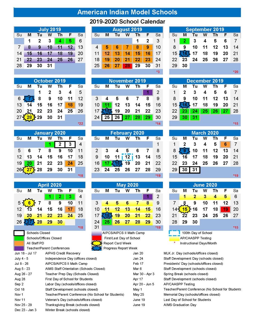 2019 2020 Aims College Prep School Calendar Is Here! — Aims K 12 Inside Amador Valley High School Calendar