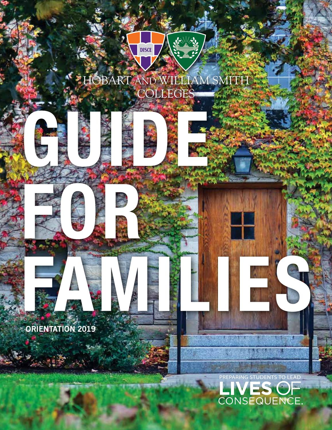 2019 Guide For Families - Hobart And William Smith Colleges In Hobart William Smith School Calendar