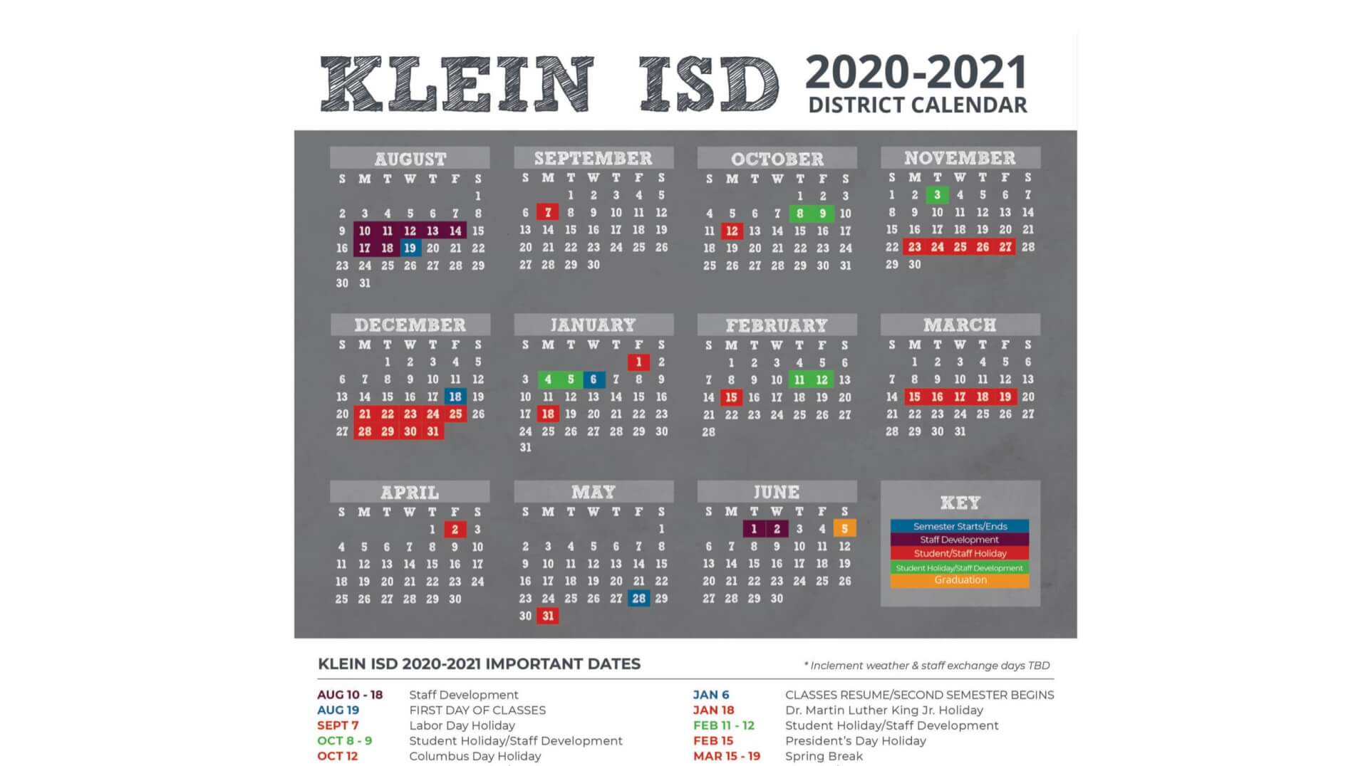 University Of Houston 2021 2021 Calendar | Printable ...