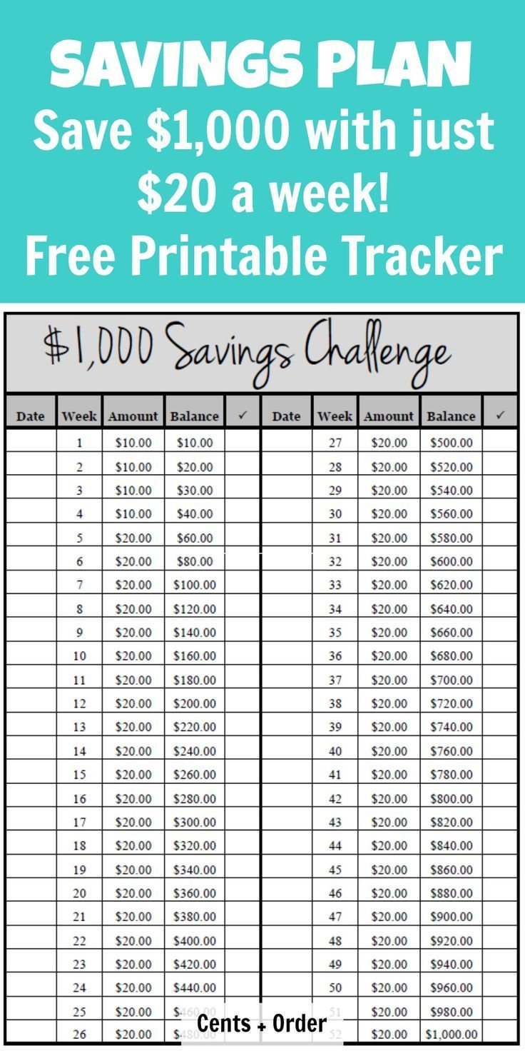 52 Week Challenge Plan (Save $1,000) – Free Printable Pertaining To 52 Week Challenge Calendar