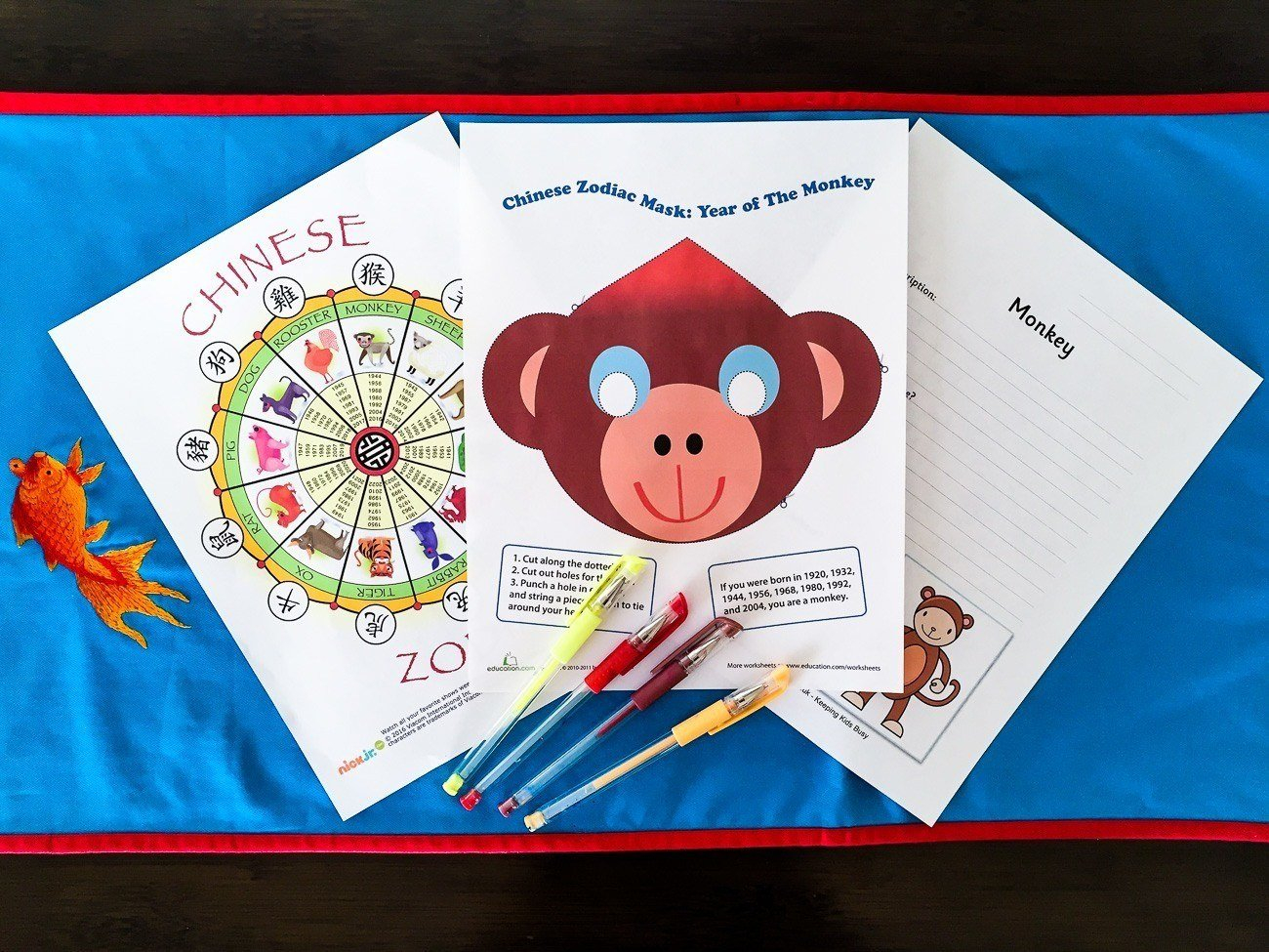 9 Free Chinese New Year Printables For Kids – La Jolla Mom With Chinese Calendar Animals Free Printable