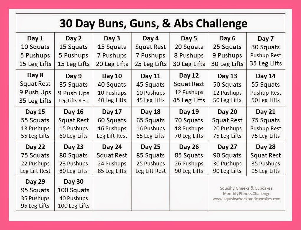 Ab Challenge Calendar Printable New Calendar Template Site With Regard To Squat Challenge Calendar Beginner Printable