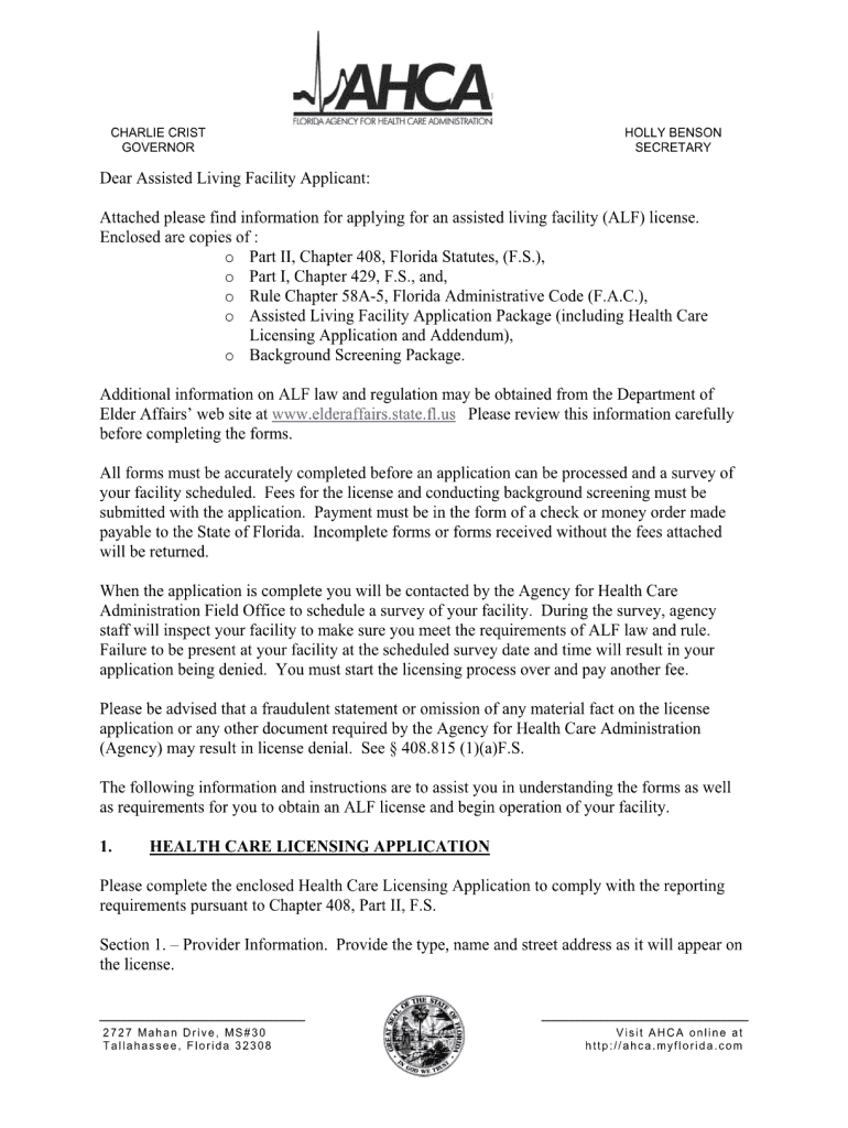 Alf Application – Fill Out And Sign Printable Pdf Template | Signnow For Assisted Living Rules And Regulations Template