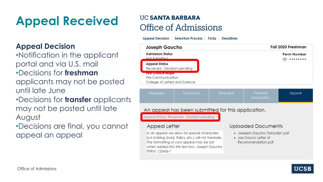 Appeal Process Within When Does 2020 Fall Semester Begin At Uc Santa Barbara
