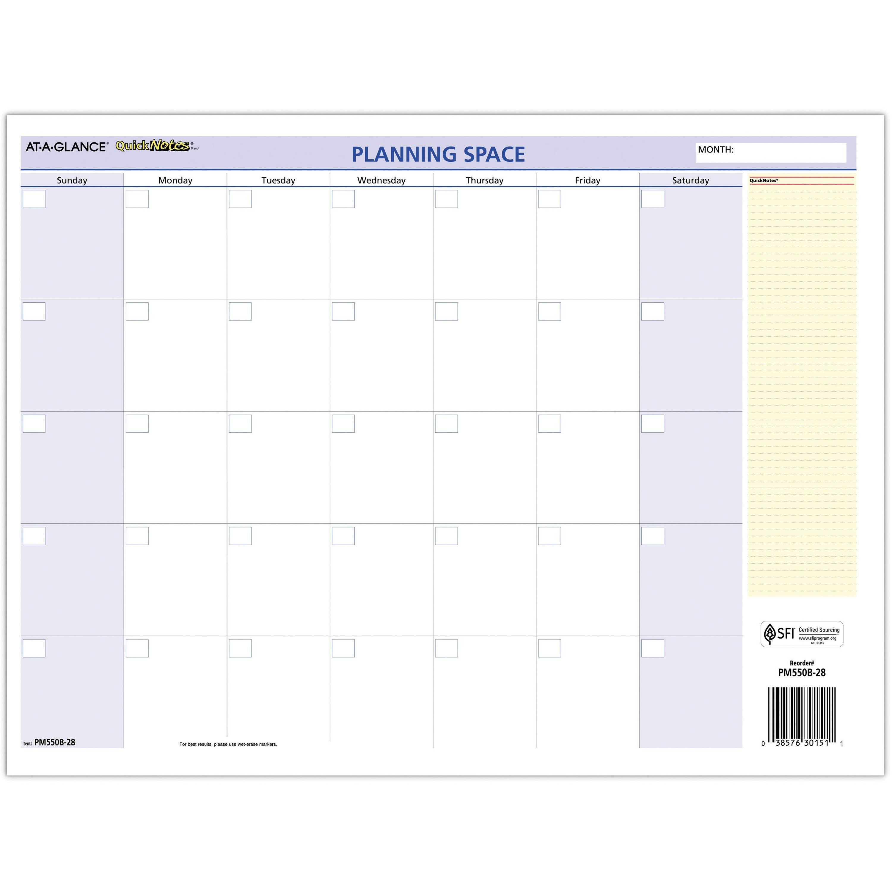"At A Glance Quicknotes Mini Erasable Yearly Wall Planner – January 2021  Till December 2021 – 12 45/64"" X 15 45/64"" Sheet Size – 2"" X 1.87"" Block – With Grand Ledge School Calendar 2021"