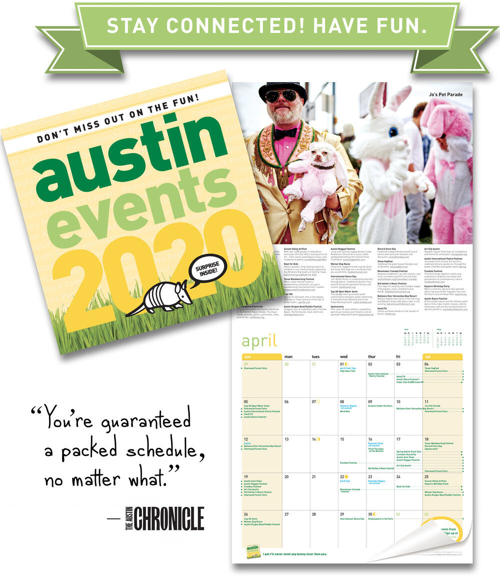 Austin Events Wall Calendar 2020 intended for Free Fun In Austin Calendar