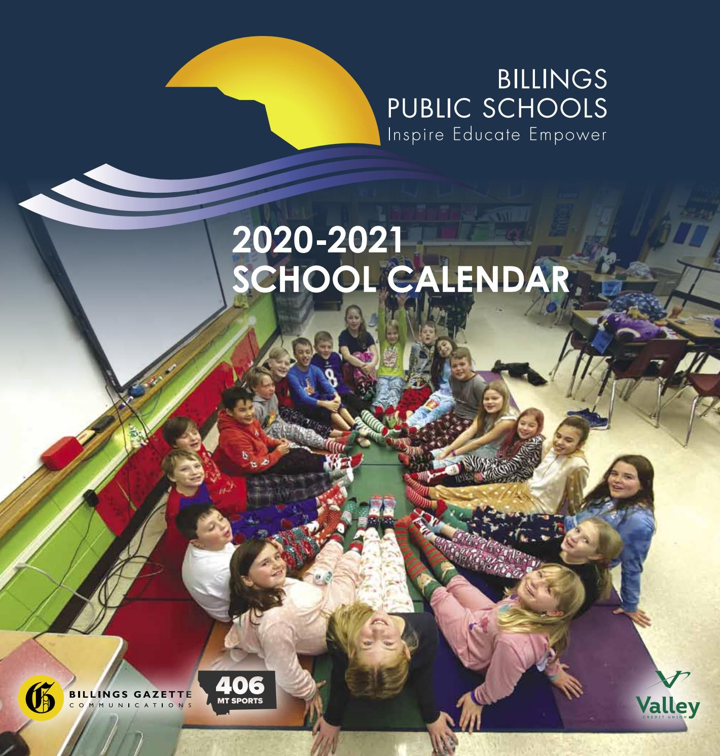 Billings School District 2 2020-2021 Calendarbillings with Billings School District 2 Calander