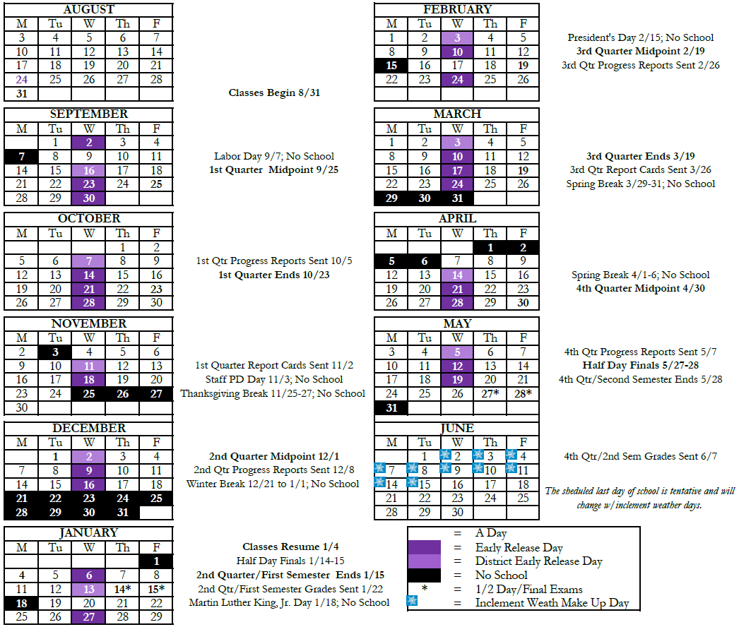 Calendar - Fort Zumwalt West High School Intended For Fort Zumwalt Academic Calendar