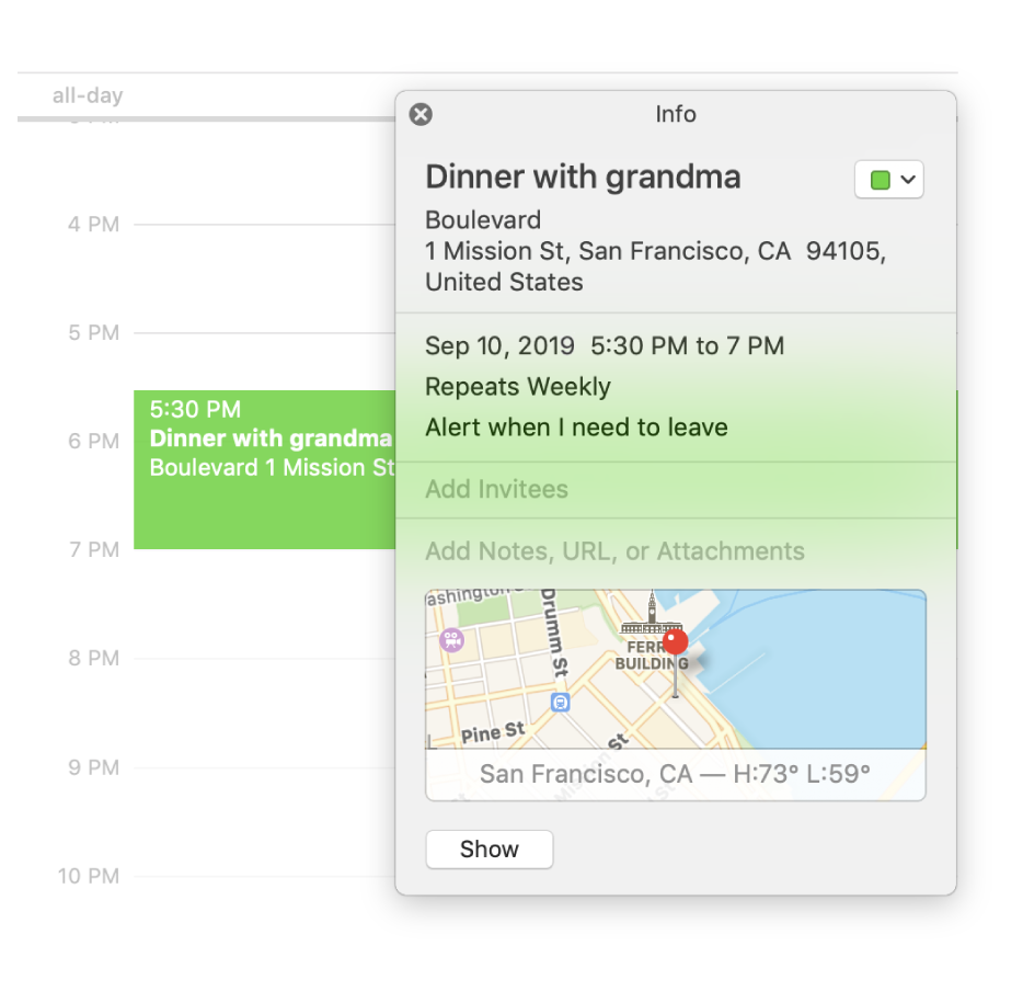 Calendar User Guide For Mac – Apple Support With Regard To Catalina Bar And Grill Calendar