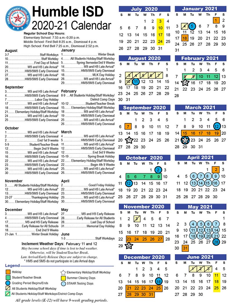 Calendars / Dates / District Calendars/dates For University Of Houston 2021 2021 Calendar