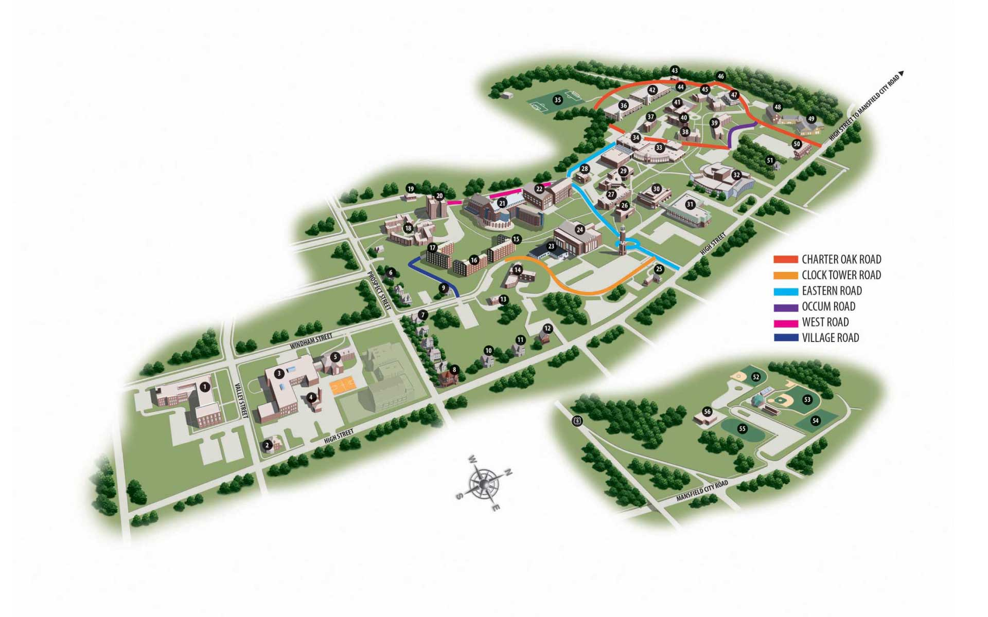 Campus Map – Eastern Within Eastern Ct State Calendar