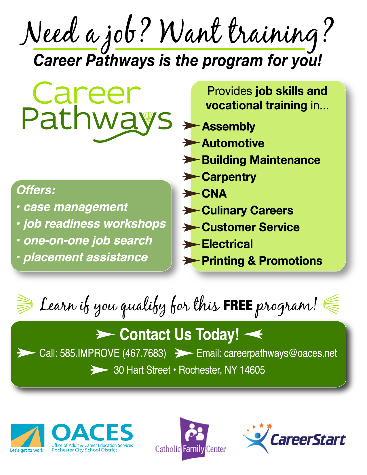 Career Pathways – Oaces In Rochester City School District Calendar