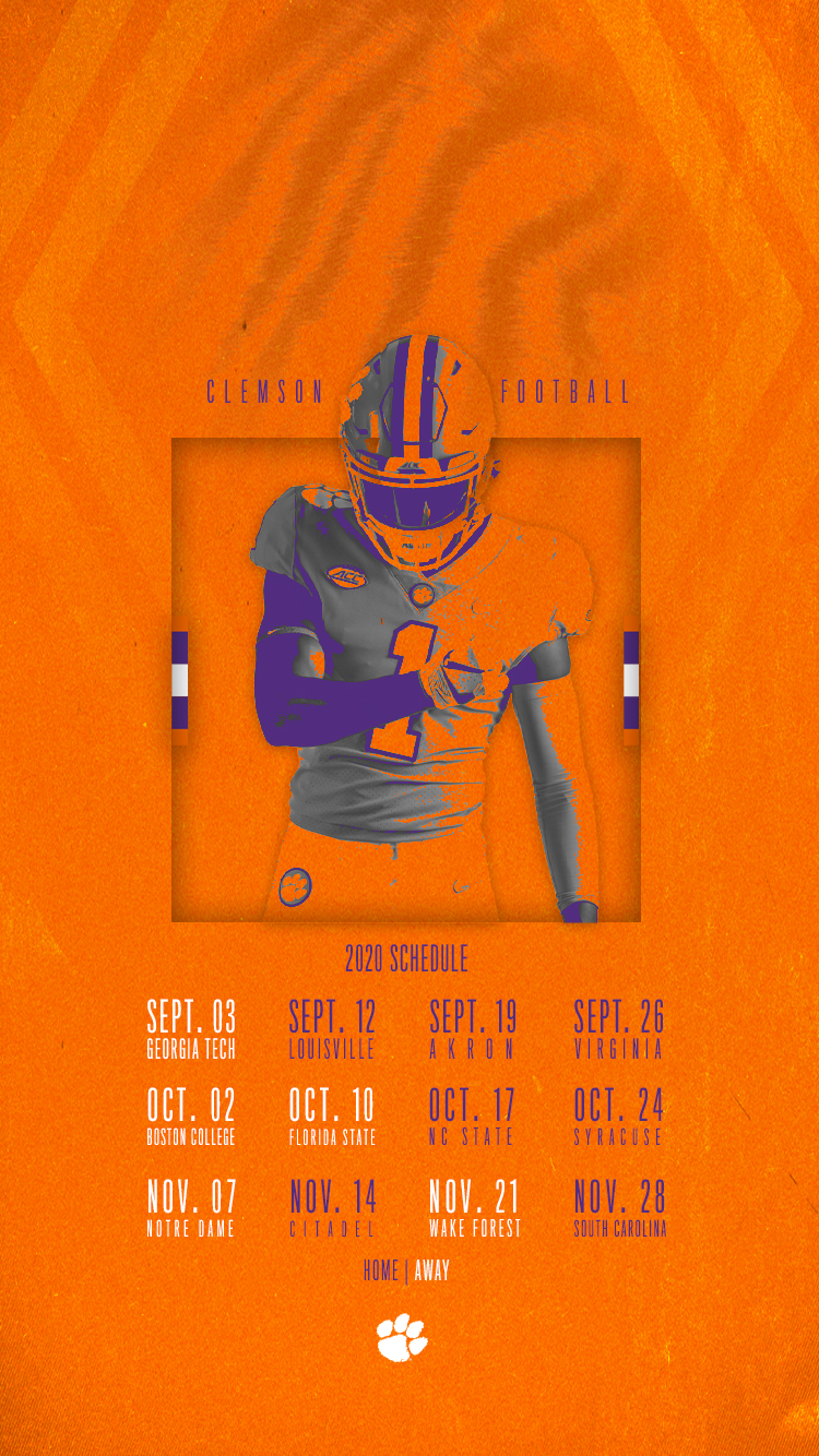 Clemson Announces 2020 Football Schedule – Clemson Tigers In Full Sail University Spring Calendar 202 2021