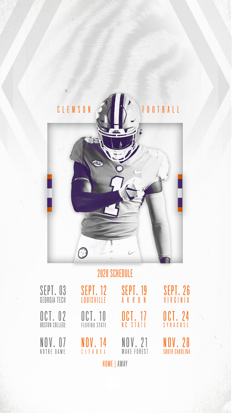 Clemson Announces 2020 Football Schedule – Clemson Tigers Throughout Full Sail University Spring Calendar 202 2021