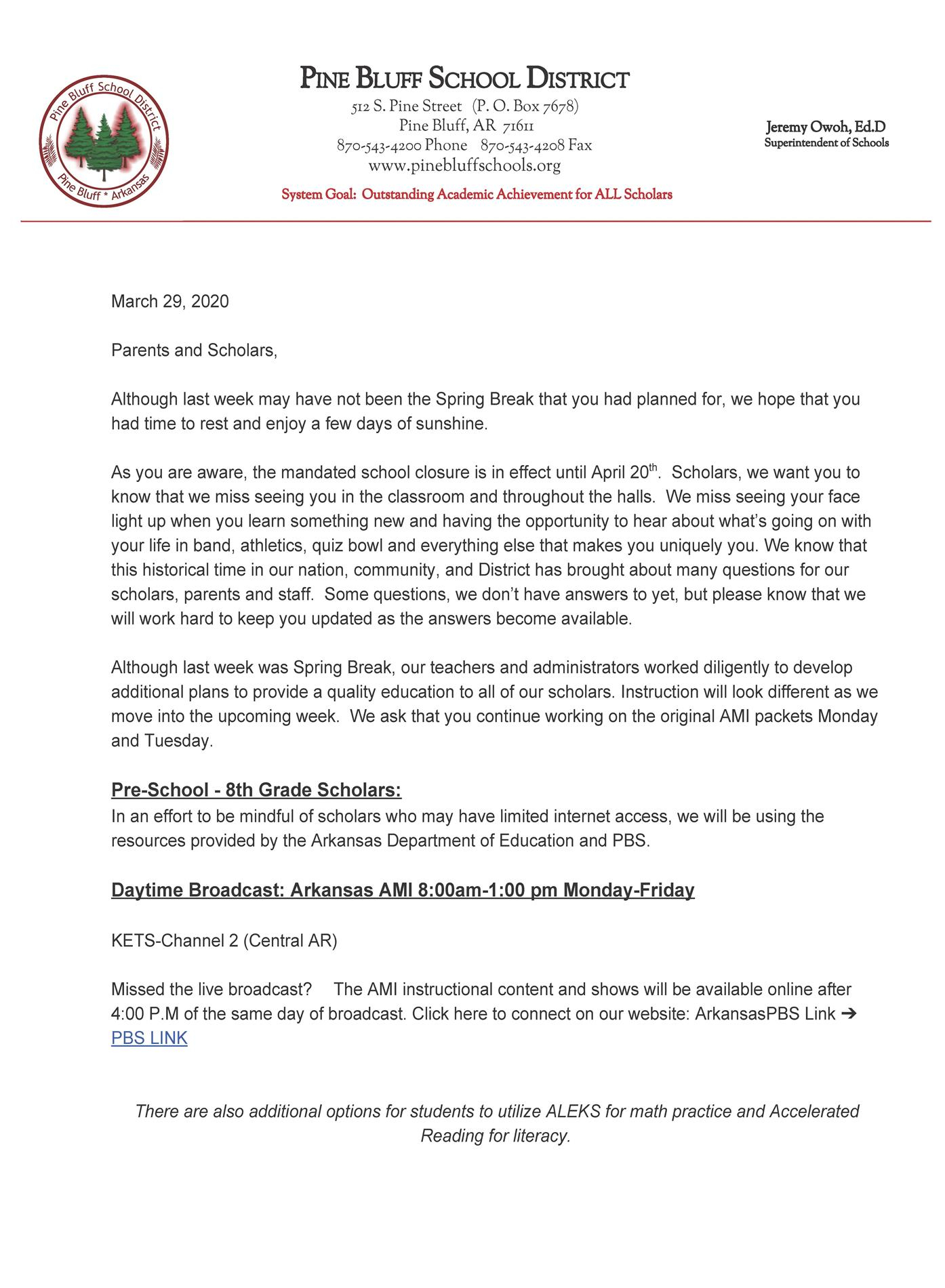 Community – Pine Bluff School District Inside Pine Bluff School District Calendar 2021
