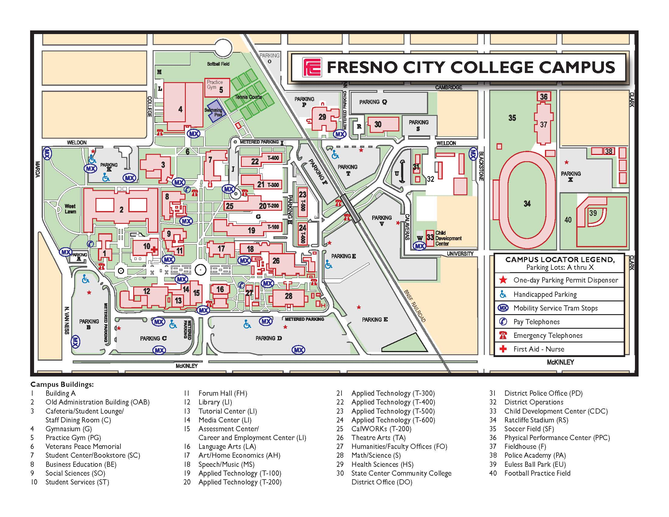 Contact And Maps | Fresno City College for Fresno City College Academic Calendar