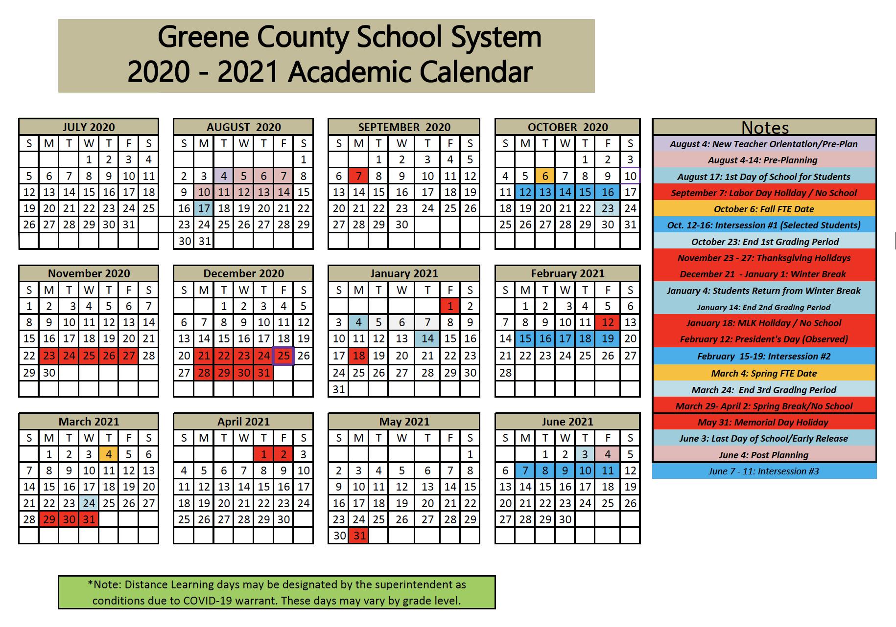 Covid 19 / District Updates In Georgia State Academic Calendar 2021 2020