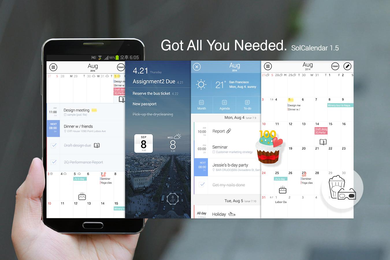 Скачать Solcalendar 1.7.3 Для Android Intended For Yahoo Calendar App Android