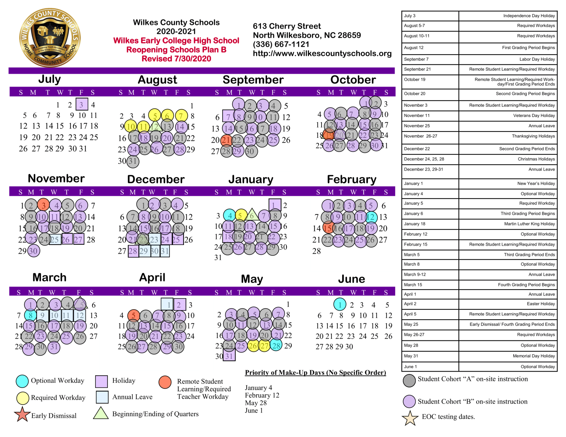 District Calendars – District – Wilkes County Schools For Hall Co Ga School Calendar