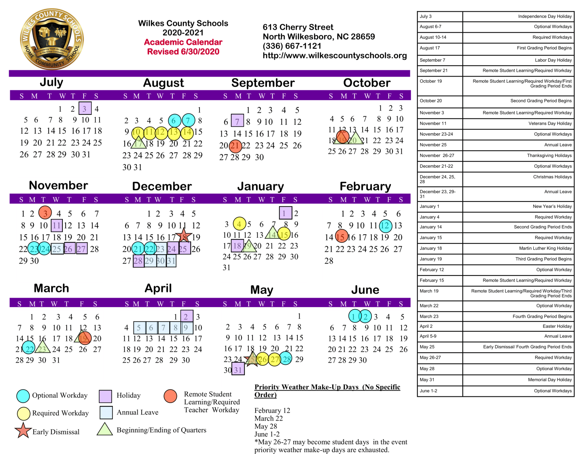 District Calendars – District – Wilkes County Schools Within Hall Co Ga School Calendar