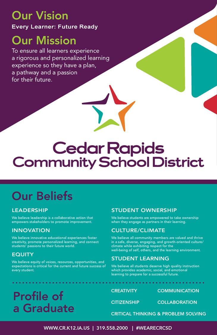 District Visioning | Cedar Rapids Community School District Pertaining To Cedar Rapids School District Calendar