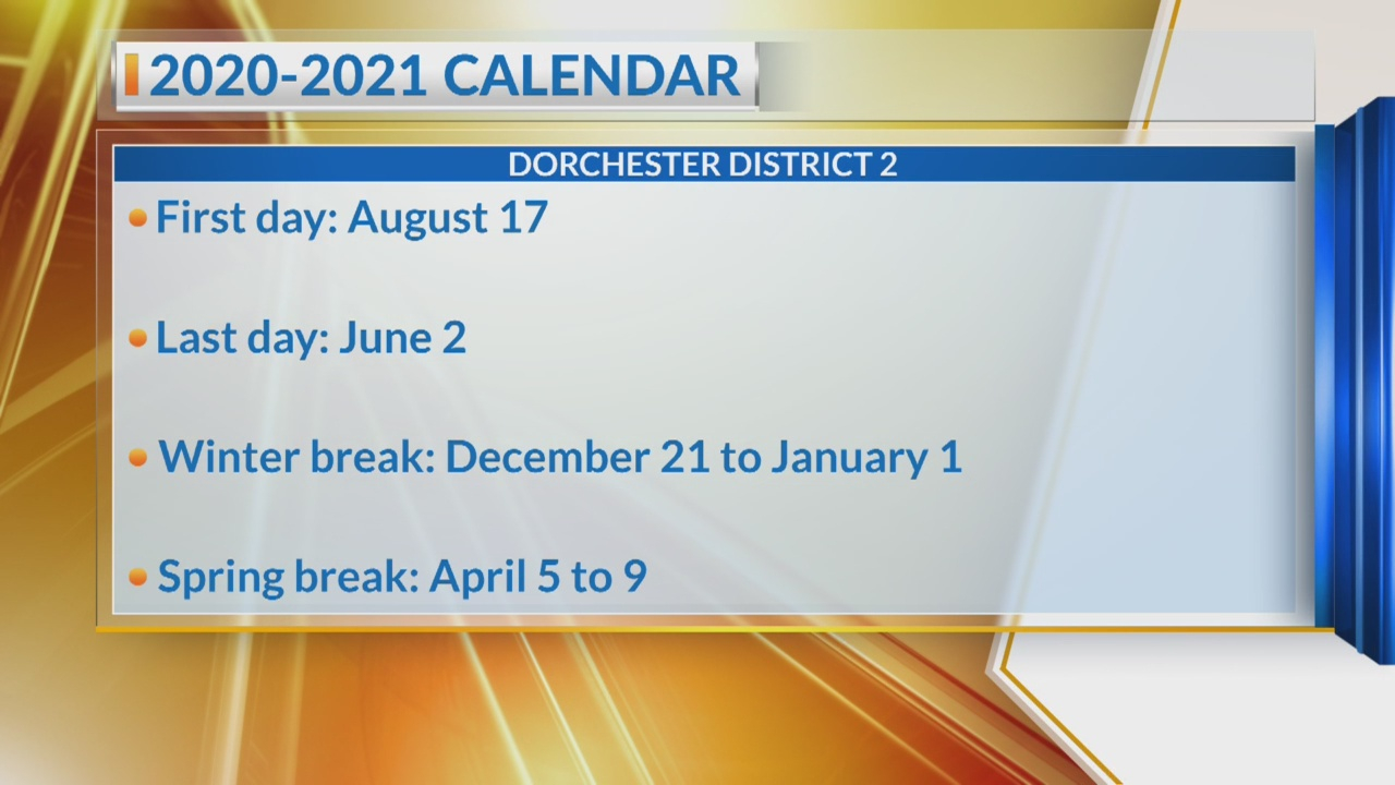Dorchester District 2 Announces 2020-2021 School Calendar within Dorchester District 2 Calendar 2021