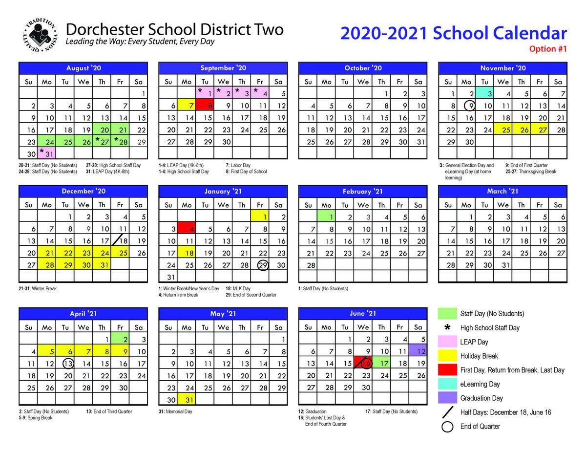Dorchester School District Two (@teamddtwo) | Twitter Inside Dorchester District 2 Calendar 2021