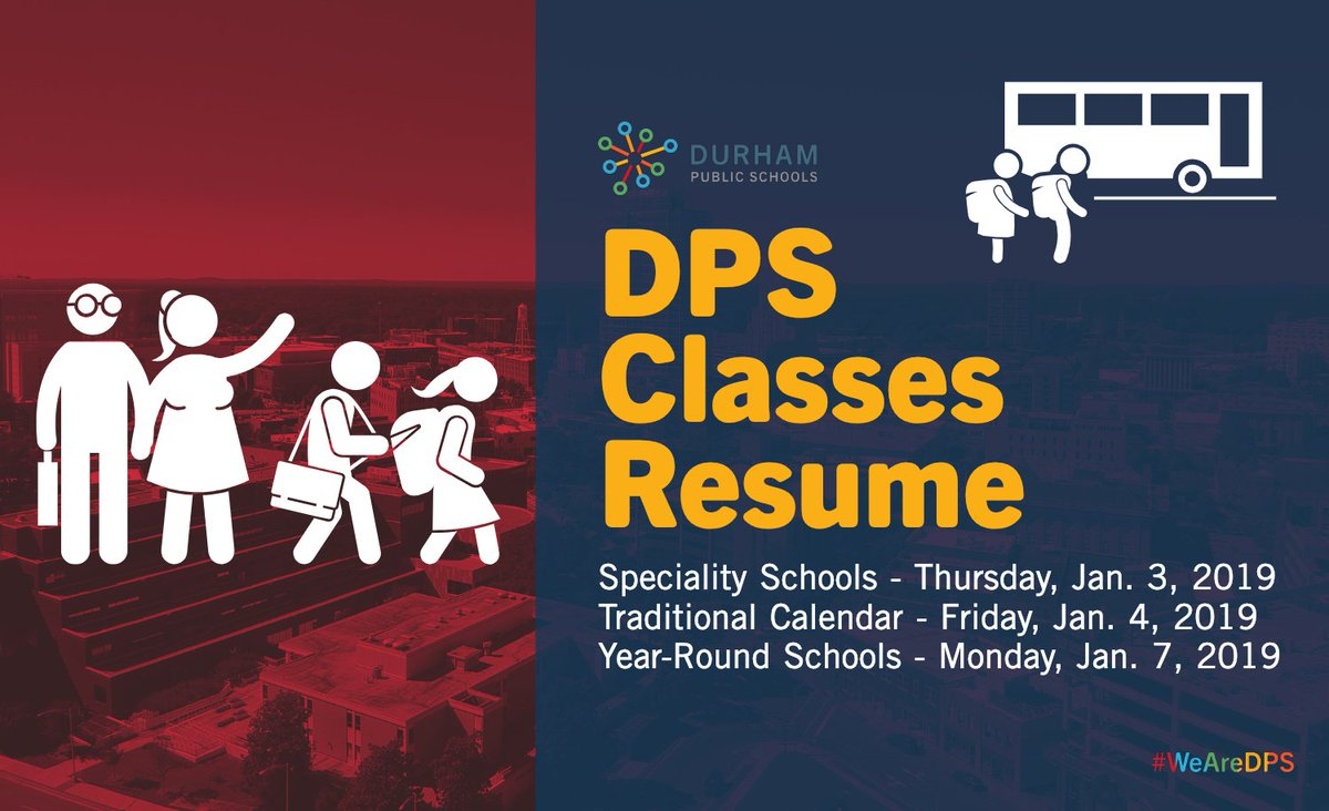 "Durham Public Schools On Twitter: ""#happynewyear! #wearedps pertaining to Durham Traditional School Calendar"