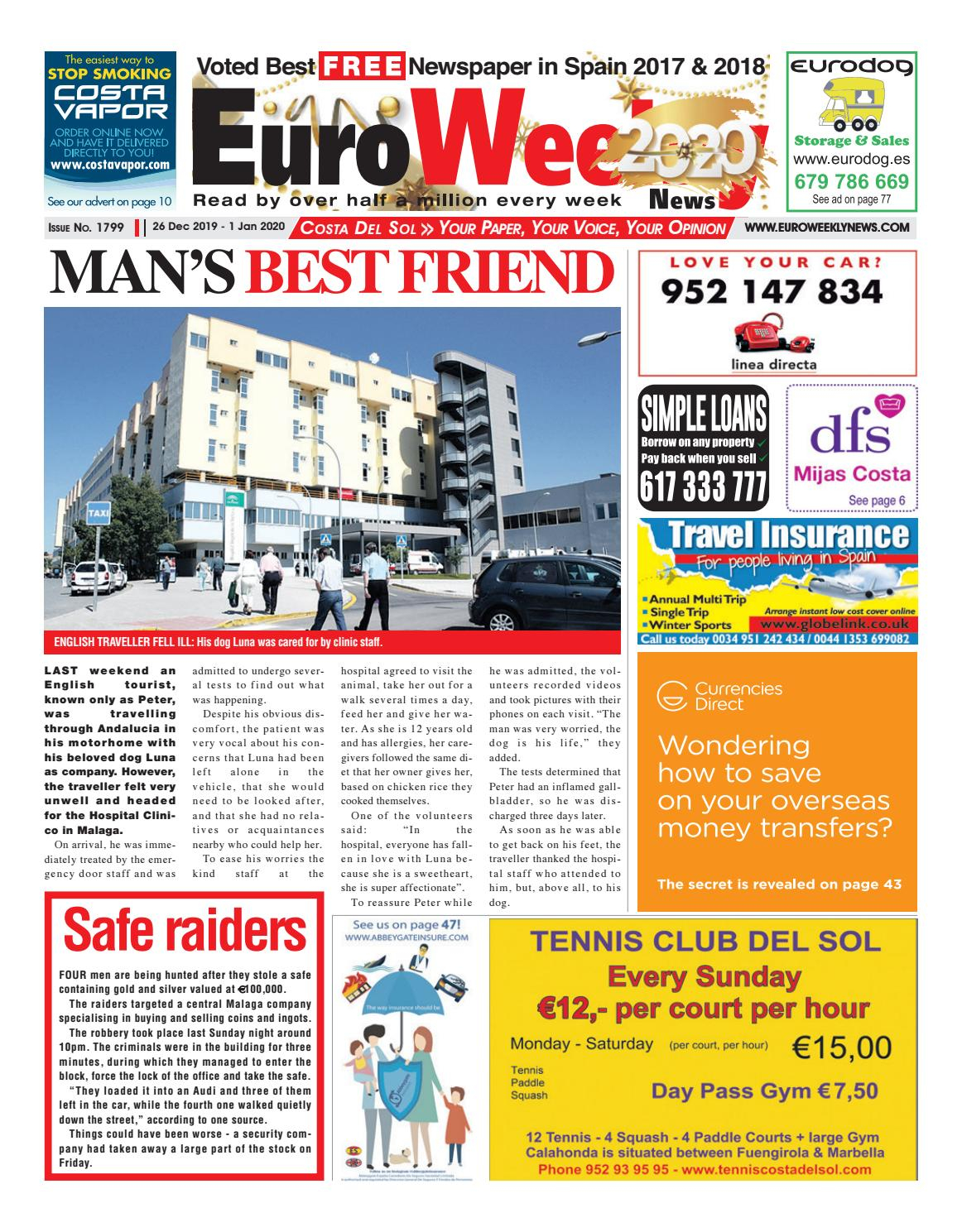 Euro Weekly News – Costa Del Sol 26 December 2019 – 1 Intended For Ripley Ms Flea Market Schedule 2021